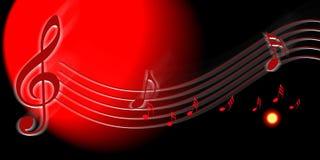 Musikanmerkung Stockbilder