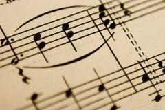 Musikanmerkung Stockbild