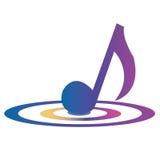 Musikanmerkung Lizenzfreies Stockfoto