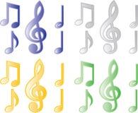Musikanmerkung Lizenzfreie Stockfotos