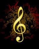 Musikanmerkung lizenzfreie abbildung