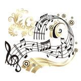 Musikanmerkung. Lizenzfreie Stockbilder