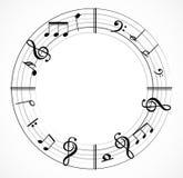 Musikanmerkung mit Musikbaum Stockbild