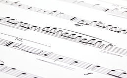Musikanmerkungen Stockfotografie