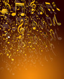 Musikanmerkungen Stockfotos