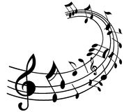 Musikanmerkungen Stockbild