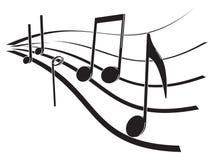 Musikanmerkungen Stockbilder
