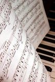 Musikanmerkungen Lizenzfreies Stockbild