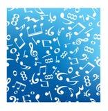 Musikanmerkungs-Zusammenfassungshintergrund Lizenzfreies Stockfoto