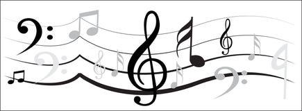 Musikanmerkungsdesign Stockbild