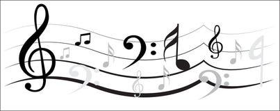 Musikanmerkungsdesign Lizenzfreie Stockfotos