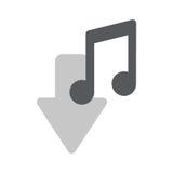 Musikanmerkungsikonendownloadzeichen-Vektorillustration Lizenzfreies Stockfoto