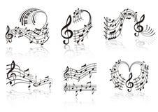 musikanmärkning Arkivbild