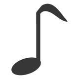 Musikanmärkning i svartvitt Arkivbild