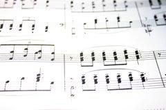 musikanmärkningar Arkivfoton