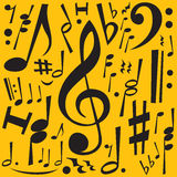musikanmärkningar Arkivbild