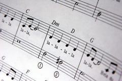 musikanmärkningar Fotografering för Bildbyråer