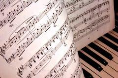 musikanmärkningar Royaltyfria Bilder
