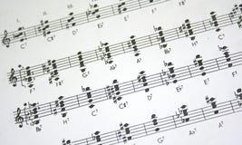 musikark Arkivfoton