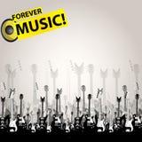 Musikaudiosschablone Stockbilder