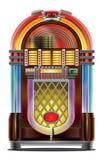 Musikautomat auf Weiß Stockbild
