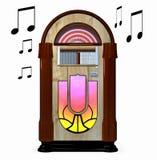 Musikautomat getrennter weißer Hintergrund vektor abbildung