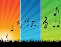 Musikbakgrund Royaltyfri Foto