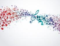 Musikbakgrund Royaltyfri Fotografi