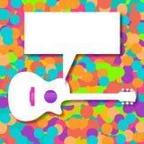 Musikbakgrund med en generisk akustisk gitarr Royaltyfri Fotografi