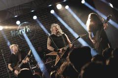 Musikband Bucovina i konsert Royaltyfria Bilder