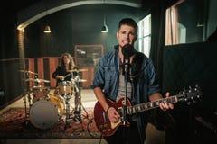 Musikband, die Wiederholung hat lizenzfreies stockfoto