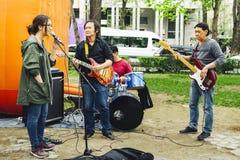 Musikband för festivalmusik Royaltyfria Foton