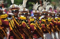 Musikband för Indonesien polismarsch Royaltyfria Bilder