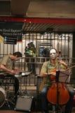 Musikband på gångtunnelen Arkivbild