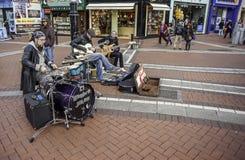 Musikband på gatan Royaltyfri Bild