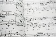 Musikblatt lizenzfreie stockfotos