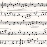 Musikblatt Stockbild