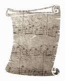 Musikblauhintergrund Stockbild