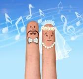 Musikbröllop Royaltyfri Foto