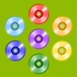 MusikCD, alla färger av regnbågen royaltyfri illustrationer
