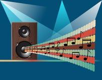 Musikdiscohintergrund Lizenzfreie Stockfotos