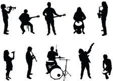 musiker vektor illustrationer