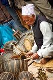 Musiker in Bhaktapur, Nepal Stockbilder