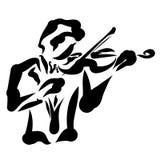 Musiker, der die Violine, Kunst, schöne Musik spielt stock abbildung