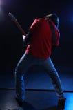 Musiker, der elektrische Gitarre spielt Stockfoto