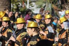 Musiker in der Karnevals-Parade Lizenzfreie Stockfotografie