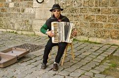 Musiker der Straße, Paris, Frankreich Lizenzfreies Stockfoto