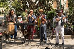 Musiker i Antigua Guatemala Arkivbild