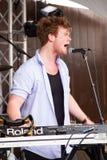 Musiker i Austin royaltyfri fotografi