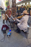 Musiker i gatan Arkivfoton